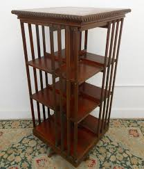 Narrow Mahogany Bookcase by Antique Danner Mahogany Revolving Bookcase Revolving Bookcase