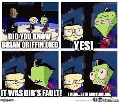 Invader Zim Memes - invader zim meme of blame by cartoonanimes4ever on deviantart