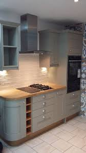studio york painted to order kitchen in dakar with solid oak