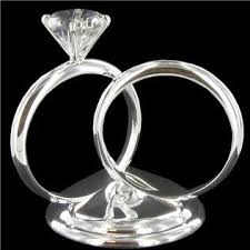 ring cake topper our cake topper his hers silver diamond ring cake topper shop