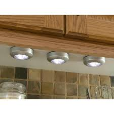 lights kitchen cabinets battery operated light it silver stick on light 3 pack 30010 301 the home