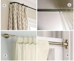 wrap around curtain rods round designs