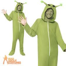 child alien costume jumpsuit kids halloween fancy dress boys girls