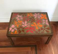 Copper Top Coffee Table Harvey Probber Rare Table With Enamel Copper Top By Harvey Probber