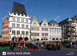main market place with row of beautiful renovated old houses