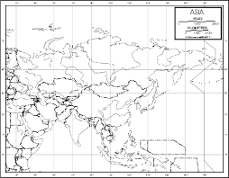 physical map of asia blank asia outline map 50 pack paper free shipping ultimate globes