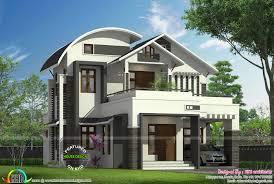 1855 sq ft curved roof mix modern home homes design plans facilities in this house