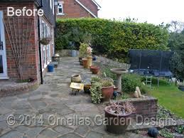 terraced landscape design in sevenoaks ornellas garden designs