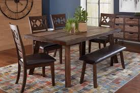 jofran painted canyon dining table u0026 chair bench set 1601 72