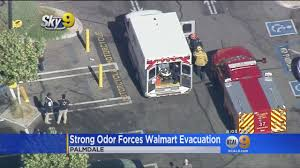 strong odor forces evacuation of walmart in palmdale youtube