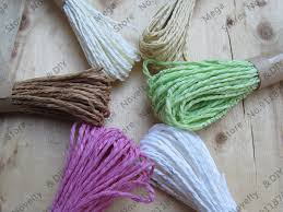 raffia ribbon hot paper straw cord raffia string multi color raffia ribbon rope