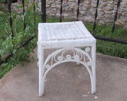 Shabby Chic Patio Decor by Wicker Nightstand Etsy