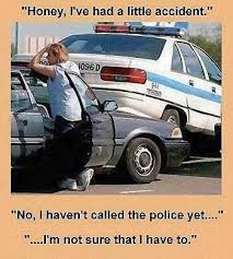 Car Accident Meme - wife police car accident silly bunt