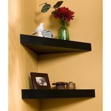 home design black floating corner shelves southwestern medium