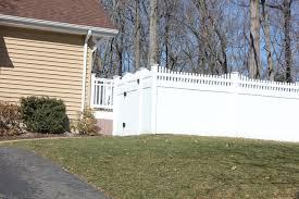 white pvc fence 6 ft residential pvc privacy fence v52156