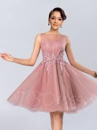 sheer bateau knee length prom dress prom dresses prom and dresses