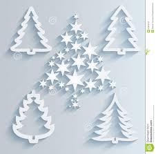 paper christmas decorations christmas trees paper decorations stock photo image