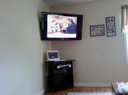Wall Tv Stands Corner Corner Wall Mount Tv Shelf