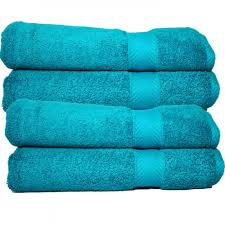 bathroom entrancing turquoise 650 gram cotton bath towel set 4