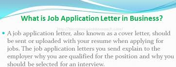 Resume Definition Job by What Is Job Application Letter In Business