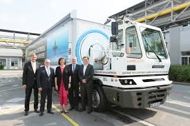 electric truck all electric bmw truck starts work