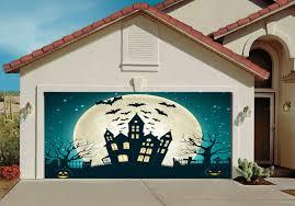 amazon com garage door halloween decorations cover decor bats