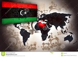 Libyas Flag Libya World Map Crisis Flag Stock Illustration Image 18922592