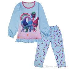 autumn trolls pajamas boutique clothing sets puff sleeve