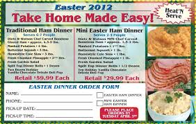 order your easter dinners