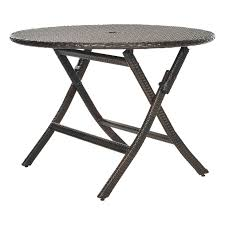 Round Table Patio Dining Sets - folding patio dining table patio dining tables at hayneedle