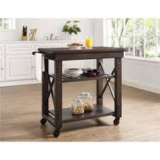 altra furniture wildwood mahogany kitchen cart with towel bar