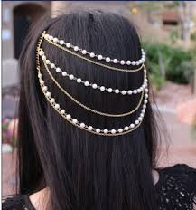 hair accessories online india online shop women hair accessories white orange multi layer pearl