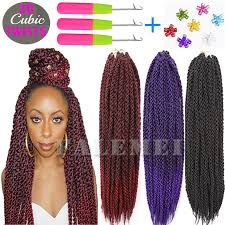 types of braiding hair weave 3d cubic twist crochet braids hair extensions ombre braiding