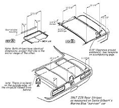 1969 camaro rear spoiler z11 trunk stripe team camaro tech