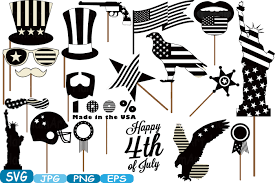 pumpkin face svg 4th of july party photo booth prop silhouette cameo cutting files