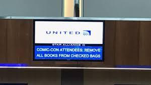 tsa united made false announcement about comic book luggage ban