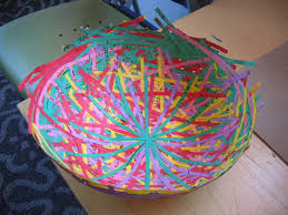 make these cool and colourful paper maché bowls bunch