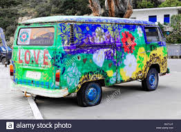 volkswagen van hippie for sale vw volkswagen camper van painted love bus hippie style stock photo
