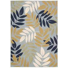 Area Rugs 12 X 12 Hton Bay Structure Floral Blue 5 Ft 3 In X 7 Ft 5 In Indoor