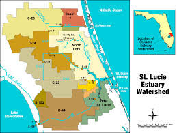 Map East Coast Florida by St Lucie River Estuary South Florida Water Management District