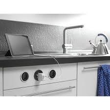 einbausteckdose küche einbausteckdose pix plus zierring edelstahl effekt und weiß