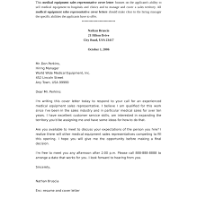 medical sales representative cover letter download cover letter