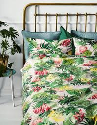 9 fresh summer collections for your bedroom home interior design 7 h m home tropical motifs green bright yellow