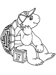 Franklin The Turtle Sitting On Letter Box Coloring Pages Batch Box Coloring Pages