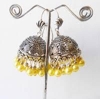 fancy jhumka earrings golden colour zaali design work jhumka earrings buy online