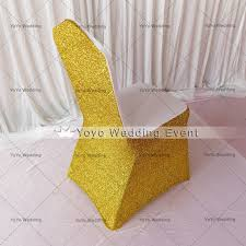 Gold Spandex Chair Covers 50 Pcs Free Shipping Gold Glitter And Spandex Chair Cover Gold
