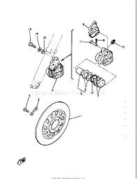 yamaha maxim xj550 motorcycle yamxj550hfbc01 front disc brake 4h7