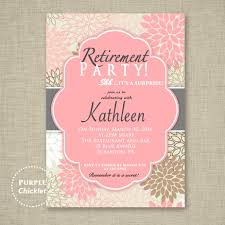 retirement party invitations retirement party invitation pink party