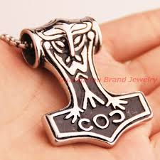 fashion 60 47mm vintage small and big stainless steel thor s hammer