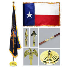 Texaa Flag Texas 3ft X 5ft Flag Flagpole Base And Tassel